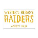 Western Reserve Raiders Car Magnet 20 x 12