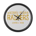 Western Reserve Raiders Large Wall Clock