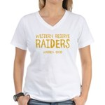 Western Reserve Raiders Women's V-Neck T-Shirt