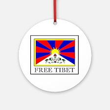 Free Tibet Round Ornament
