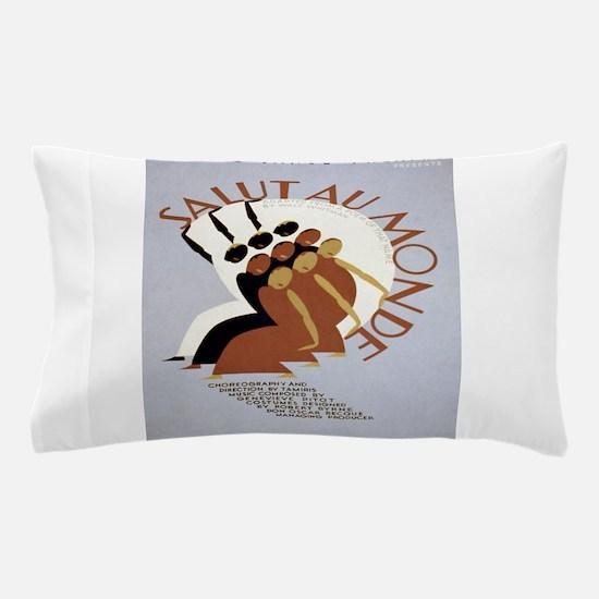 Vintage poster - Salut Au Monde Pillow Case