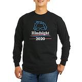 Hine sight is 2020 bernie sanders Long Sleeve T-shirts (Dark)