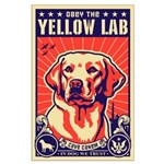 Obey the Yellow Lab! USA Large Poster