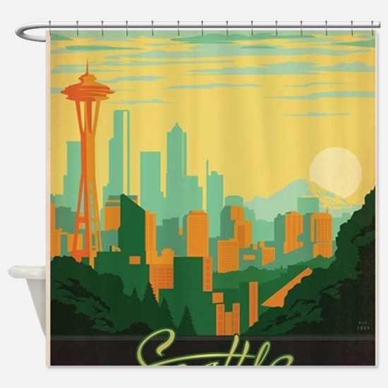 Funny Us states Shower Curtain