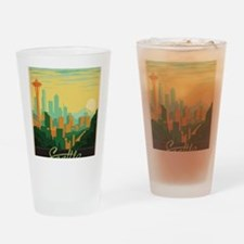 Funny States Drinking Glass