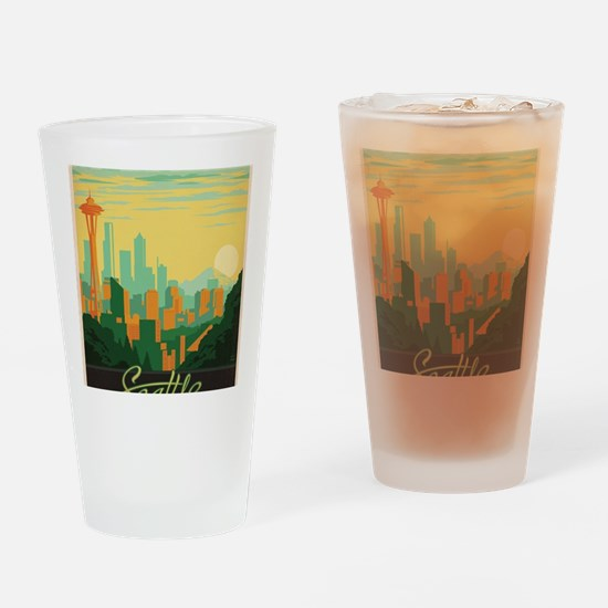 Cool Seattle Drinking Glass