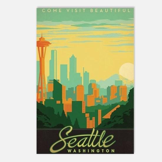 Cute Skyscrapers Postcards (Package of 8)