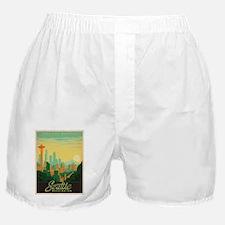 Vintage poster - Seattle Boxer Shorts