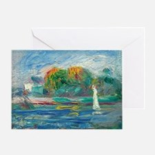 The Blue River by Auguste Renoir Greeting Cards