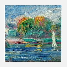 The Blue River by Auguste Renoir Tile Coaster