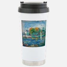 The Blue River by Auguste Renoir Travel Mug