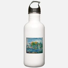 The Blue River by Auguste Renoir Water Bottle