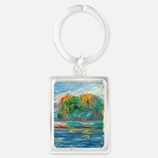 The Blue River by Auguste Renoir Keychains
