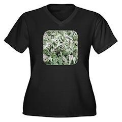 Fern for you Women's Plus Size V-Neck Dark T-Shirt