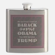 Survived Obama - Trump Flask
