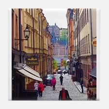 My Afternoon in Stockholm Tile Coaster