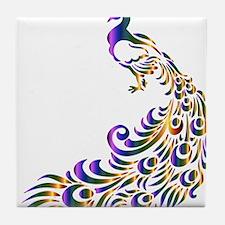 Mardi-Gras Peacock Tile Coaster