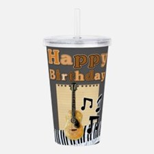 Musical Guitar Happy B Acrylic Double-wall Tumbler