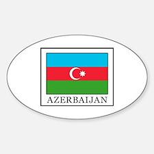 Cute Azerbaijan flag Sticker (Oval)