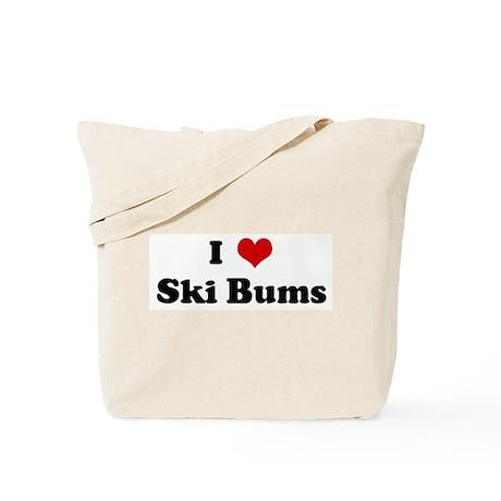 I Love Ski Bums Tote Bag