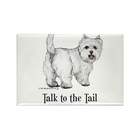 Westie Talk to the Tail Rectangle Magnet (10 pack)