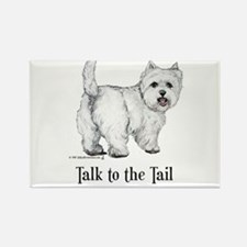 Westie Talk to the Tail Rectangle Magnet (100 pack