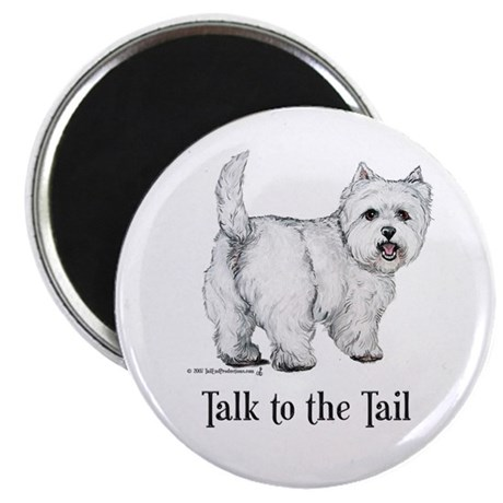 """Westie Talk to the Tail 2.25"""" Magnet (100 pack)"""