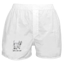 Westie Talk to the Tail Boxer Shorts