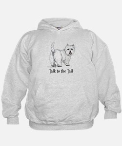 Westie Talk to the Tail Hoodie