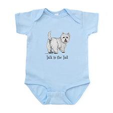 Westie Talk to the Tail Infant Bodysuit