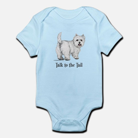 Westie Talk to the Tail Infant Bodysuit