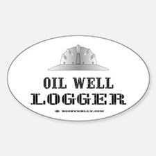 Oil Well Logger Oval Decal