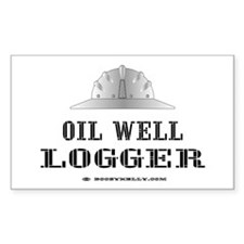 Oil Well Logger Rectangle Decal