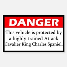Attack Cavalier King Charles Spaniel Decal