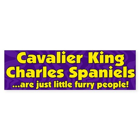 Furry People Cavalier Bumper Sticker