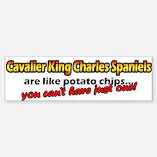 Potato Chips Cavalier King Charles Bumper Car Car Sticker