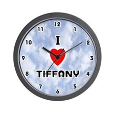 I Love Tiffany (Black) Valentine Wall Clock