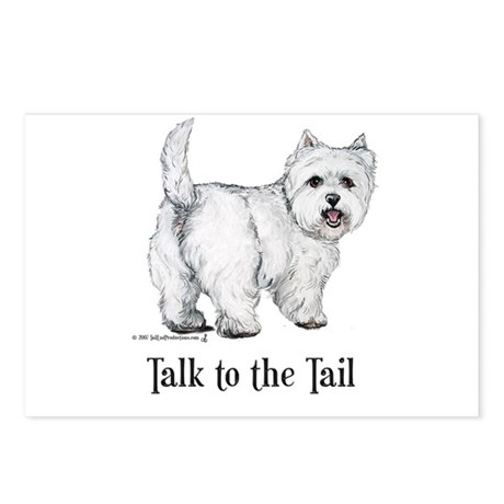 Westie Talk to the Tail Postcards (Package of 8)