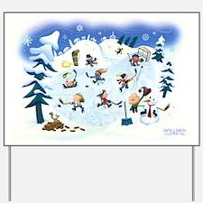 Winter Holiday Yard Sign