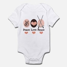 Peace Love Fence Fencing Infant Bodysuit