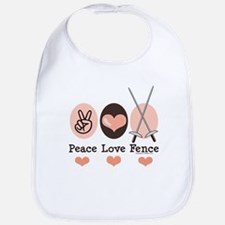 Peace Love Fence Fencing Bib