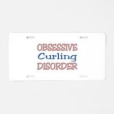 Obsessive Curling Disorder Aluminum License Plate