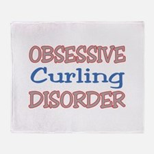 Obsessive Curling Disorder Throw Blanket