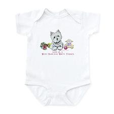 Westhighland Terrier Love Infant Bodysuit