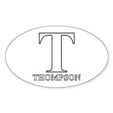 White T for Thompson Oval Decal