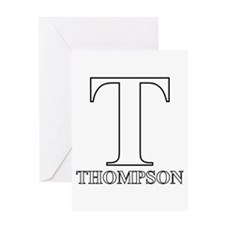 White T for Thompson Greeting Card