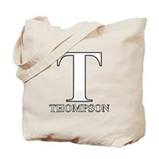 White T for Thompson Tote Bag