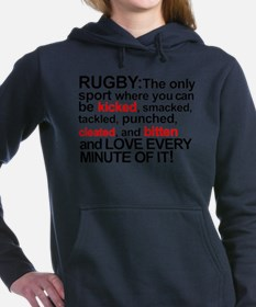 RUGBYbittencleatedWHEIT copy Sweatshirt