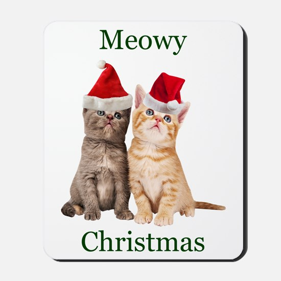Meowy Christmas Kitten Mousepad