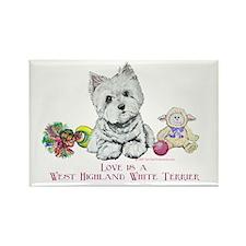 Westhighland Terrier Love Rectangle Magnet